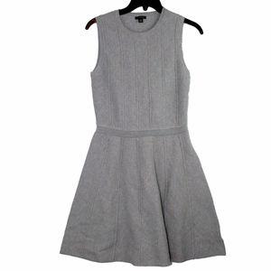 Ann Taylor Gray Fit & Flare Sleeveless Dress. XS